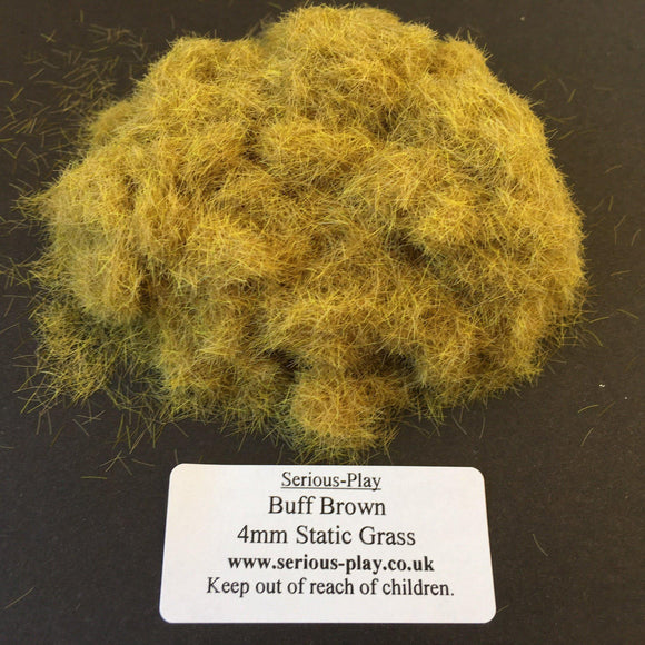 Buff Brown 4mm - Static Grass 1kg/500g Trade Bags