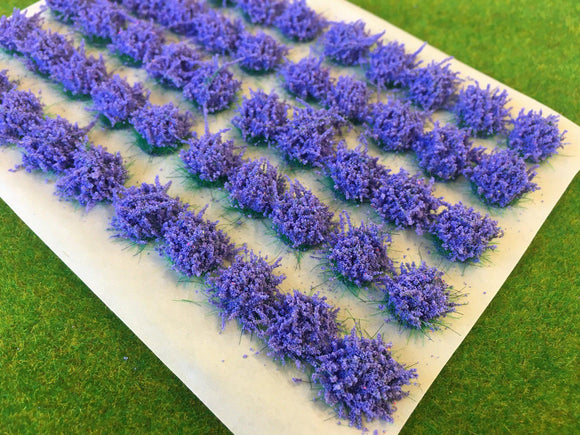Large Lavender Flower Tufts 6mm