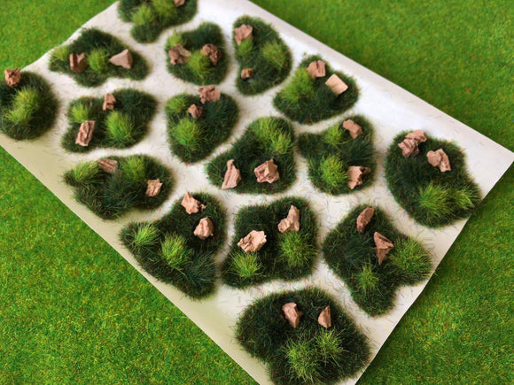 Summer Pasture Dales Tuft Dioramas - Static Grass Tufts