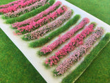 Pink Flower Bush & Hedge Strips - Static Grass Tufts