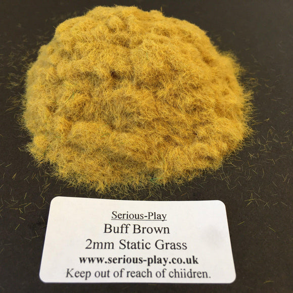 Buff Brown 2mm - Static Grass 1kg/500g Trade Bags