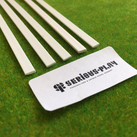 Serious-Play Styrene Strips - Rectangular Bar (Solid) x5