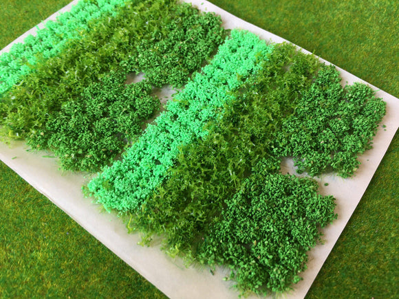 Light Green Flowers & Bushes Mix - Static Grass Flower Tufts