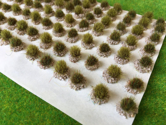 Barren Brown Textured Tufts - Static Grass Tuft Dioramas