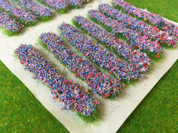 Blue Accent Strips - Garden Flower Tufts