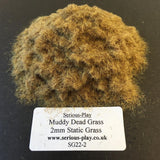 Muddy Dead Grass 2mm - Static Grass 1kg/500g Bulk Bags