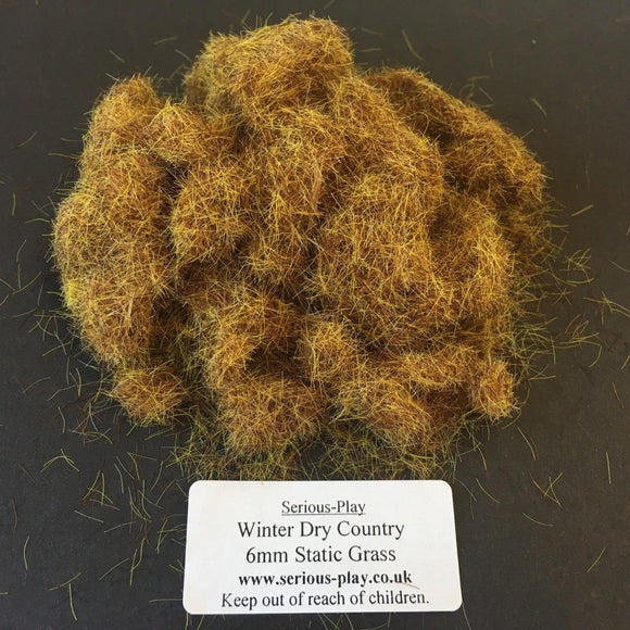 Dry Country Winter 6mm - Static Grass 1kg/500g Bulk Bags