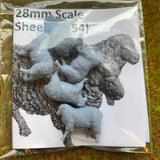 Serious-Play 28mm Wargaming Scale Sheep - Resin Animals