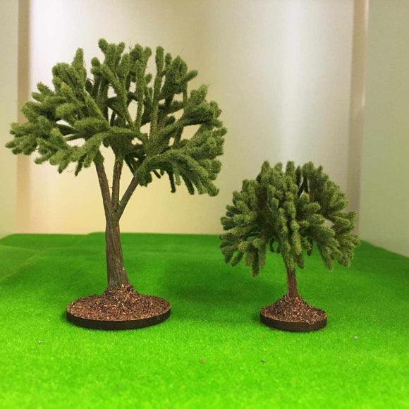 Serious-Play Mid Green Pruned Garden Trees - Plastic crafted.