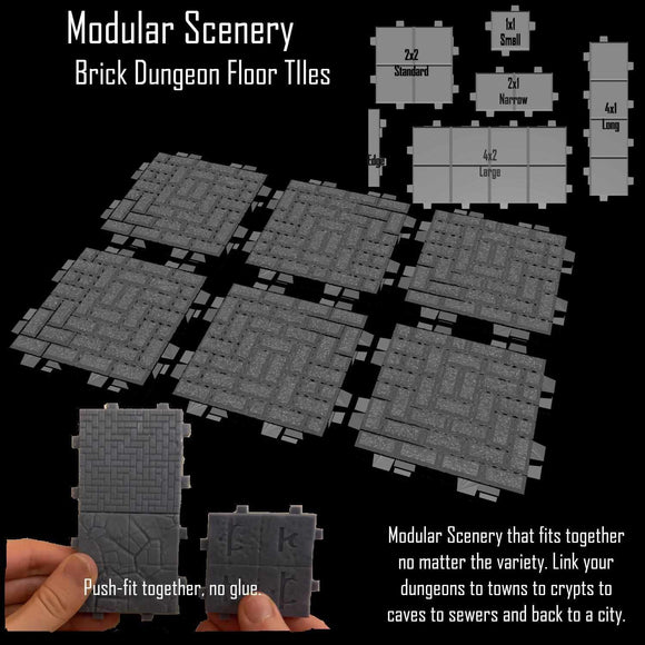 Brick Floor Tiles - Modular Scenery