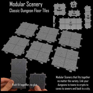 Classic Dungeon Floor Tiles - Modular Scenery