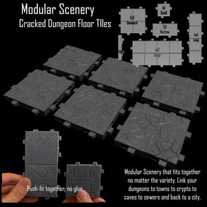Cracked Floor Tiles - Modular Scenery