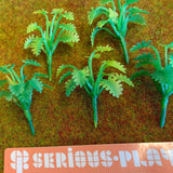 Green Plastic Small Shrubs D