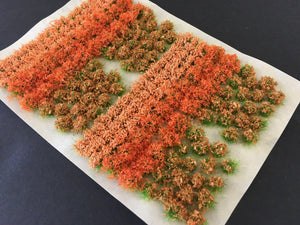 Orange Flowers & Bushes Mix - Static Grass Flower Tufts