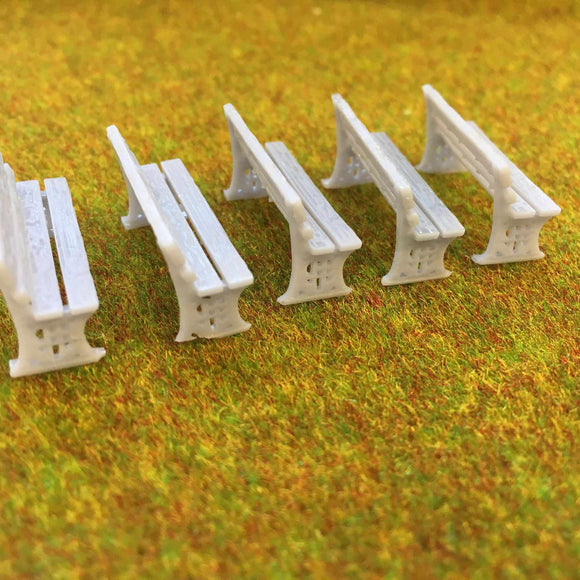 Platform Benches - Detailed Resin Accessories