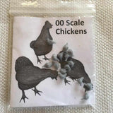 Serious-Play 00 Scale ChicKens - Resin Animals