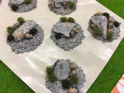Dead Stone Quarry with Resin Skulls - Scenic Base Toppers