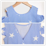 Girl's Embroidery Star Summer Dress