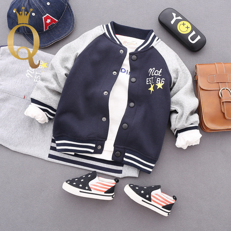 Boys Spliced Sleeve Fleeced Lining Bomber - -