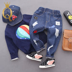 Boys Patch And Distressed Jeans - -