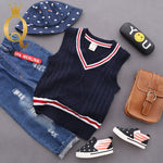 Boys Smart Knitted Vest - 100 (3-4Y) / Navy -