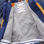 Boys Bright Stripe Autumn Parka - -
