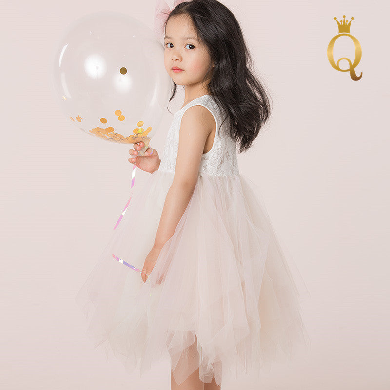 Girl's Bodices And Tulle Summer Dress