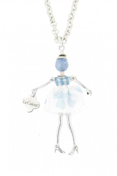 Girls Dolly Necklace - Blue - -