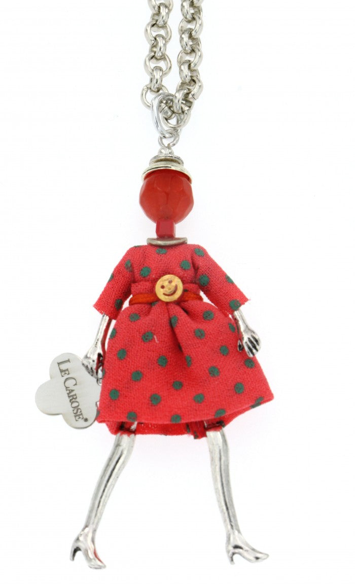 Girls Dolly Necklace - Pink - -