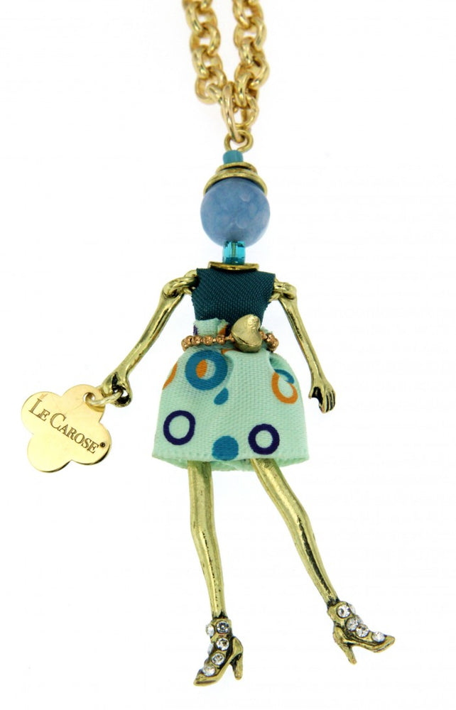 Girl's Dolly Necklace - Blue Circle