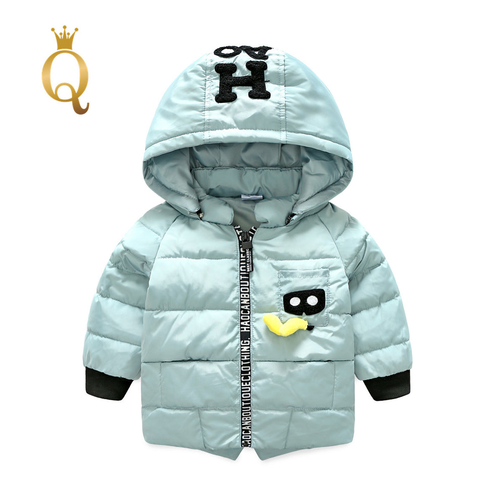 Unisex Mickey Mouse Character Long Parka Winter Jacket