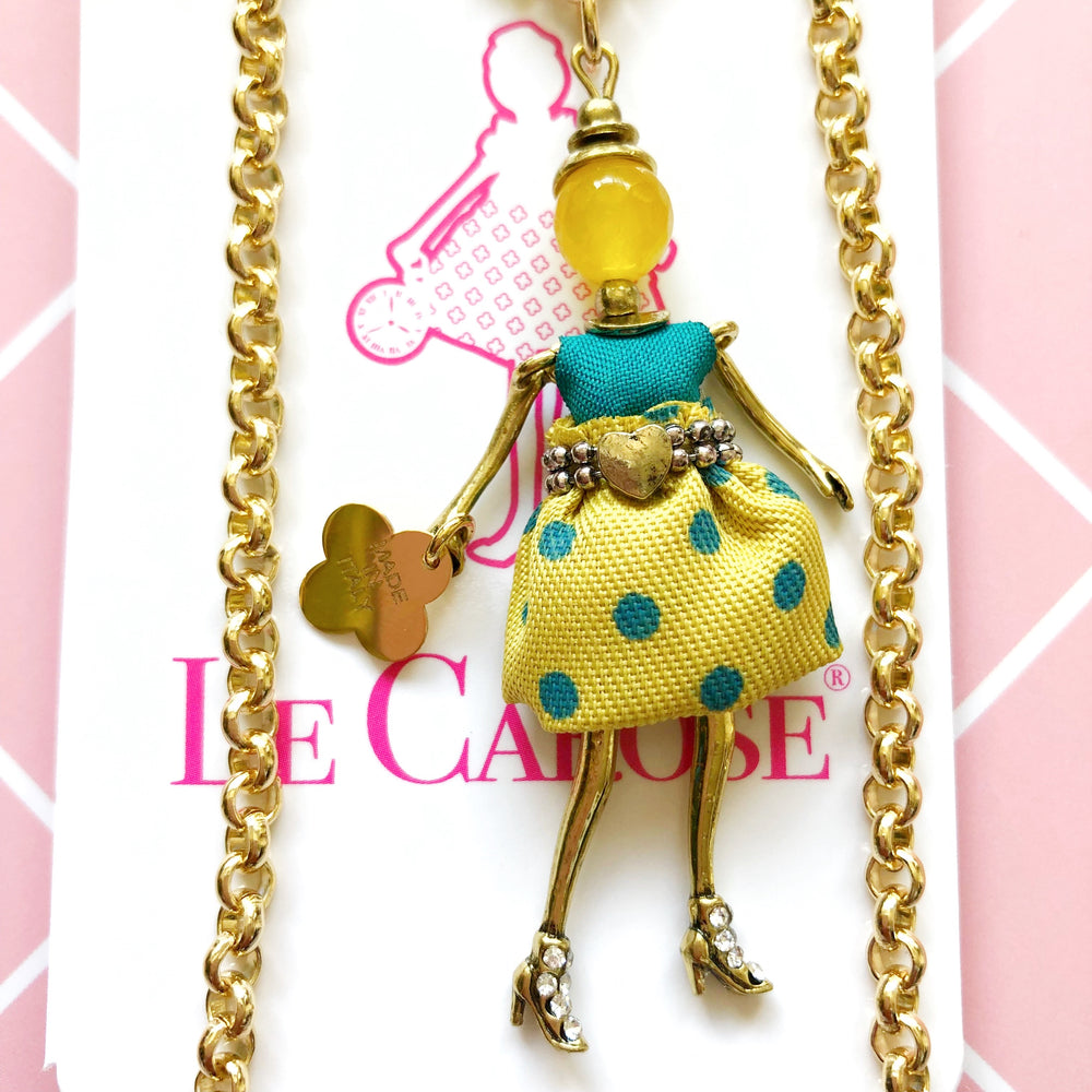 Girl's Dolly Necklace - Polka Dot Skirt