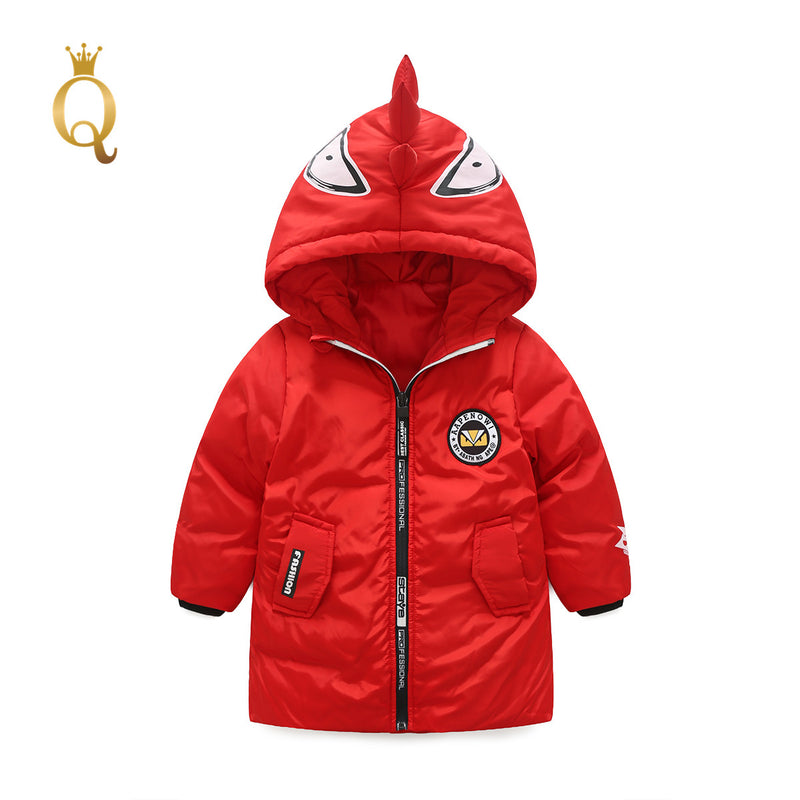 Boys Monster Character Winter Long Jacket - -