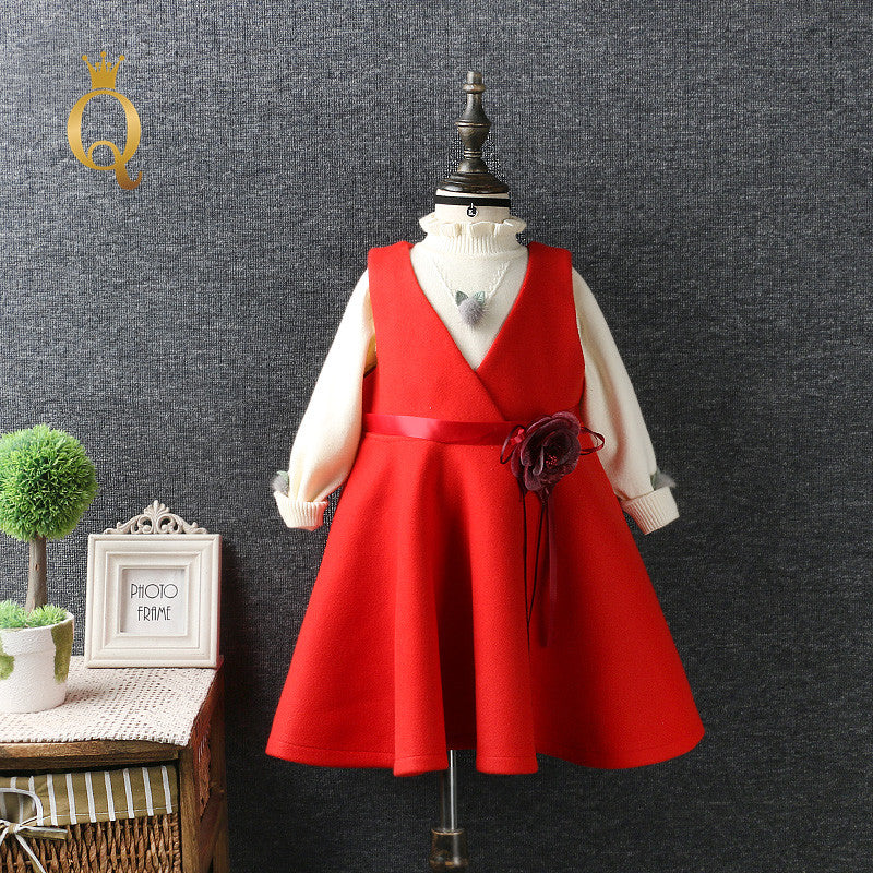 Girl's Umbrella Shaped Winter Dress