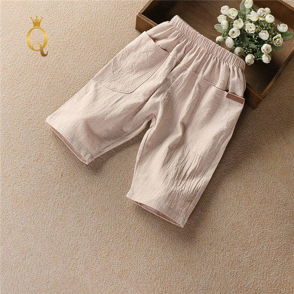 Boy's Linen Summer Shorts