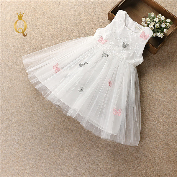 Girl's 3D Butterfly Prom Tulle Summer Dress