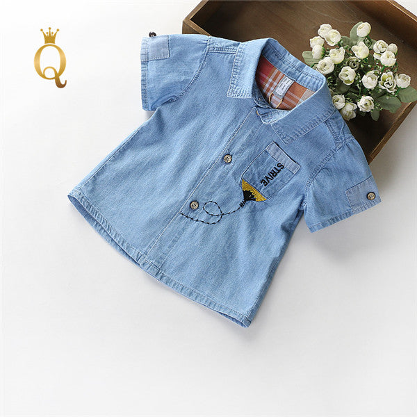 Boy's Denim Summer Shirt