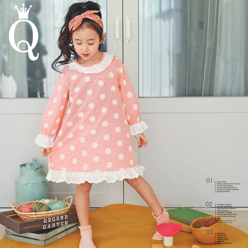 Girls Floral Princess Sleeping Gown - -