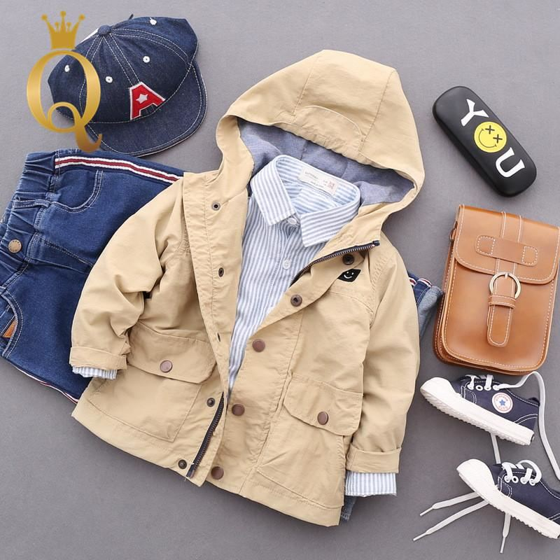 Boys Autumn Parka Jacket - 100 (3-4Y) / Khaki -