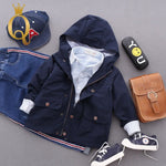 Boys Autumn Parka Jacket - 100 (3-4Y) / Navy -
