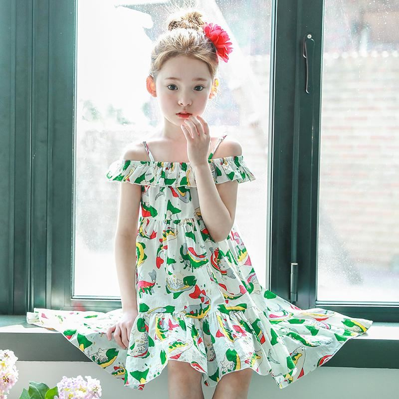 Girl's Asymmetric Summer Beach Dress