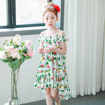 Girls Asymmetric Summer Beach Dress - - In Transit