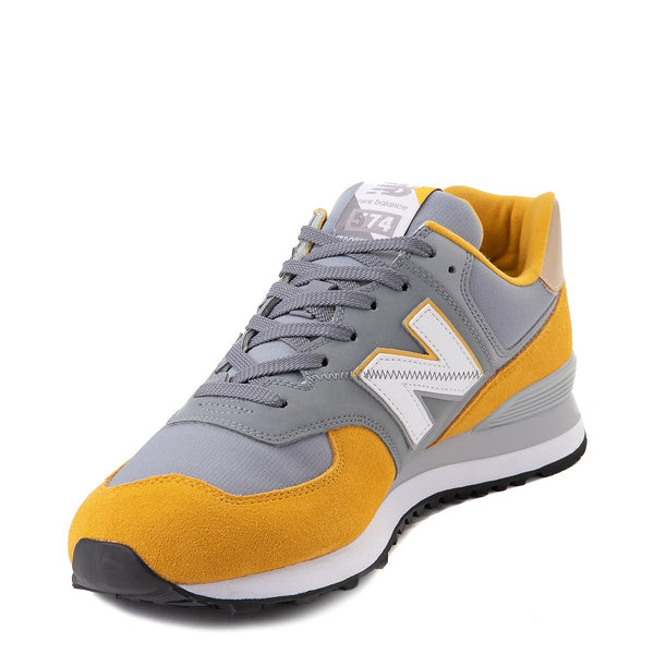 New Balance 574 Athletic Shoe - Yellow / Grey