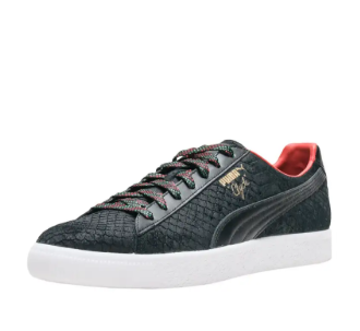 Puma Mens Clyde GCC Black Leather