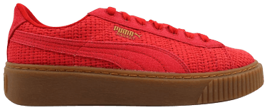 Puma Basket Platform Woven High Risk Red/Gold