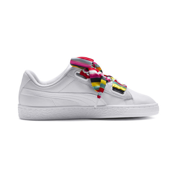 Puma Basket Heart Generation Hustle Women's White Sneakers