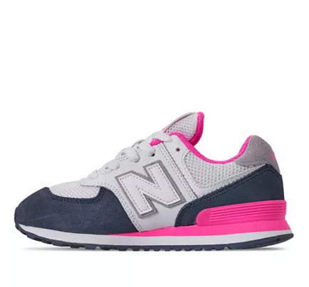 New Balance 574 Big Kid's Pink
