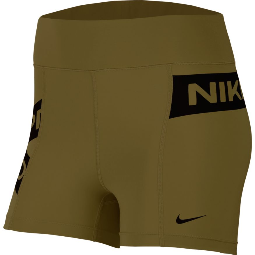 Nike Pro Women's Graphic Olive Flak Shorts