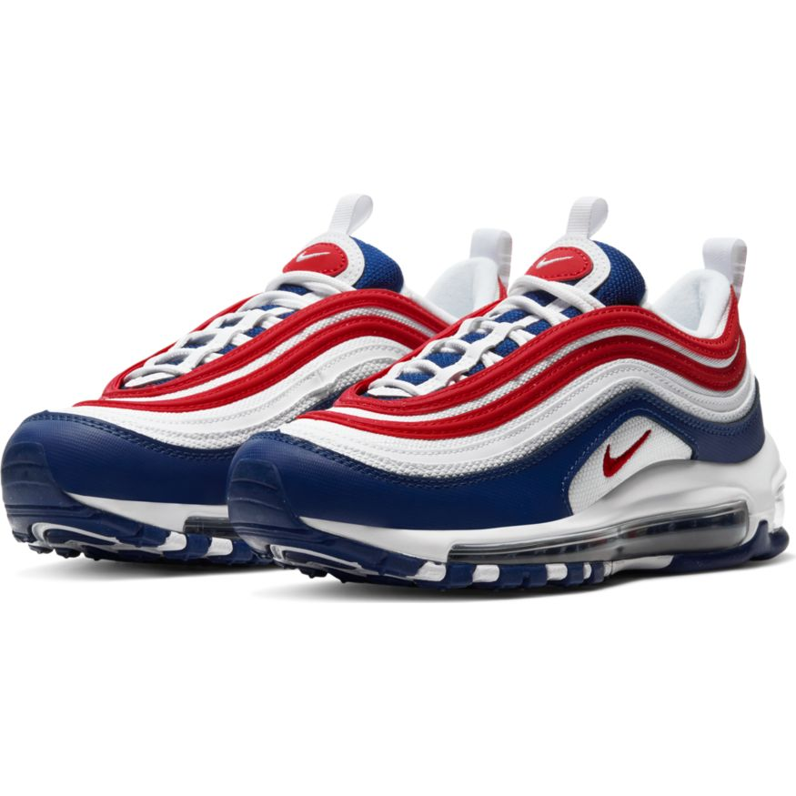Nike Air Max 97 White Red Royal (GS) | Active Athlete 88