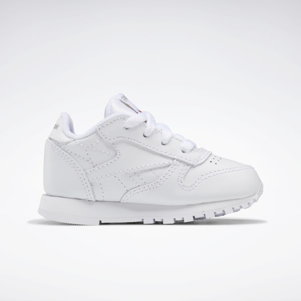 Reebok Classic White/Light Grey' Leather Shoes - Toddler
